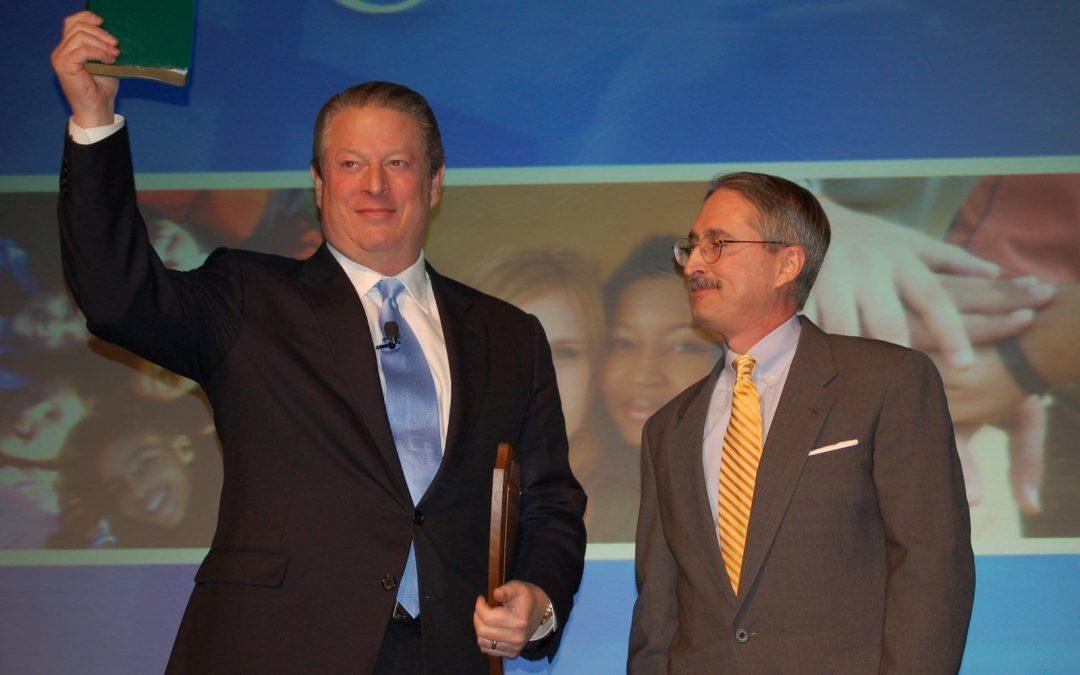 Robert Parham presented The Green Bible to Al Gore