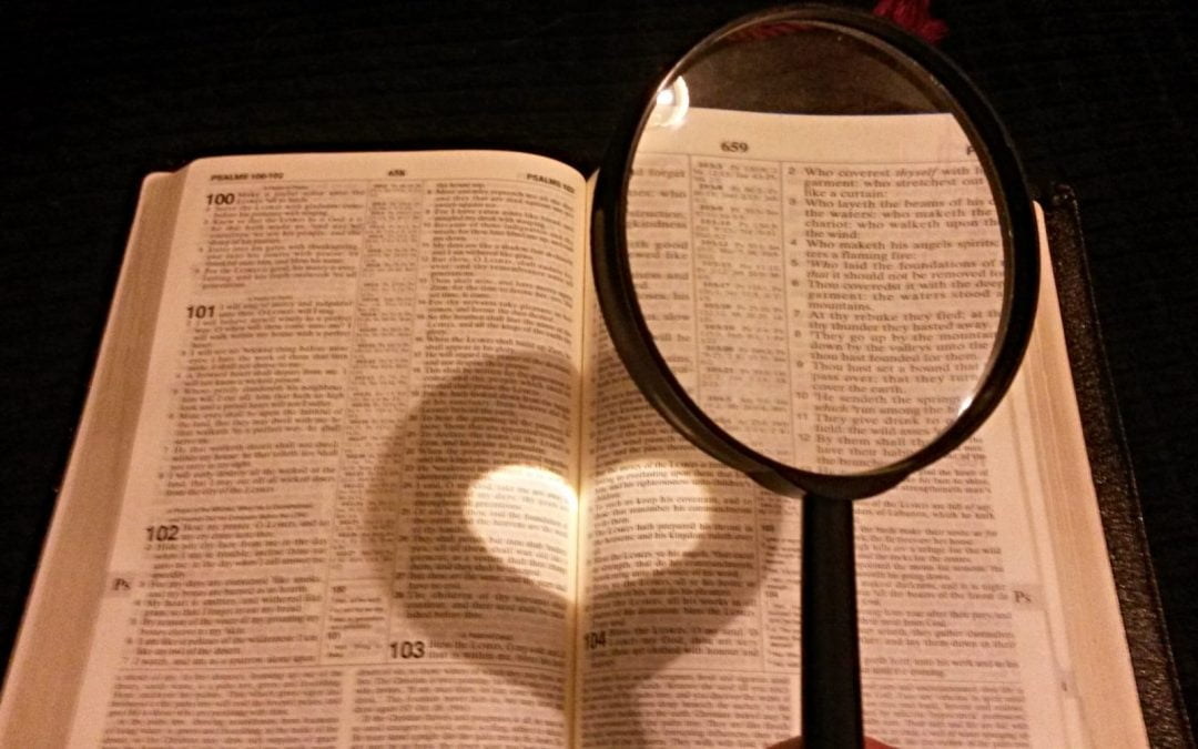 A heart created by light through a magnifying glass