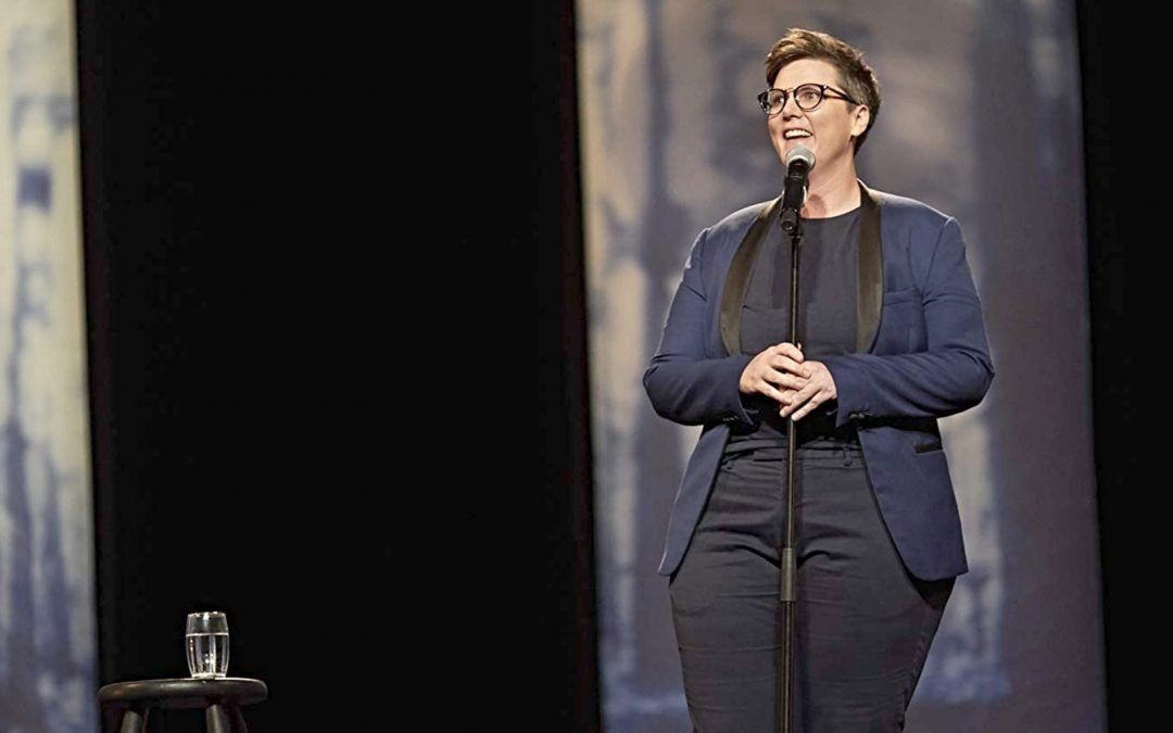 A screenshot from Hannah Gadsby's Netflix special