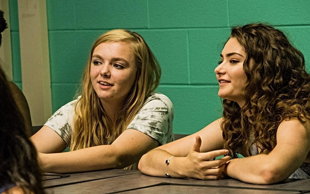 Elsie Fisher and Emily Robinson in the movie Eighth Grade