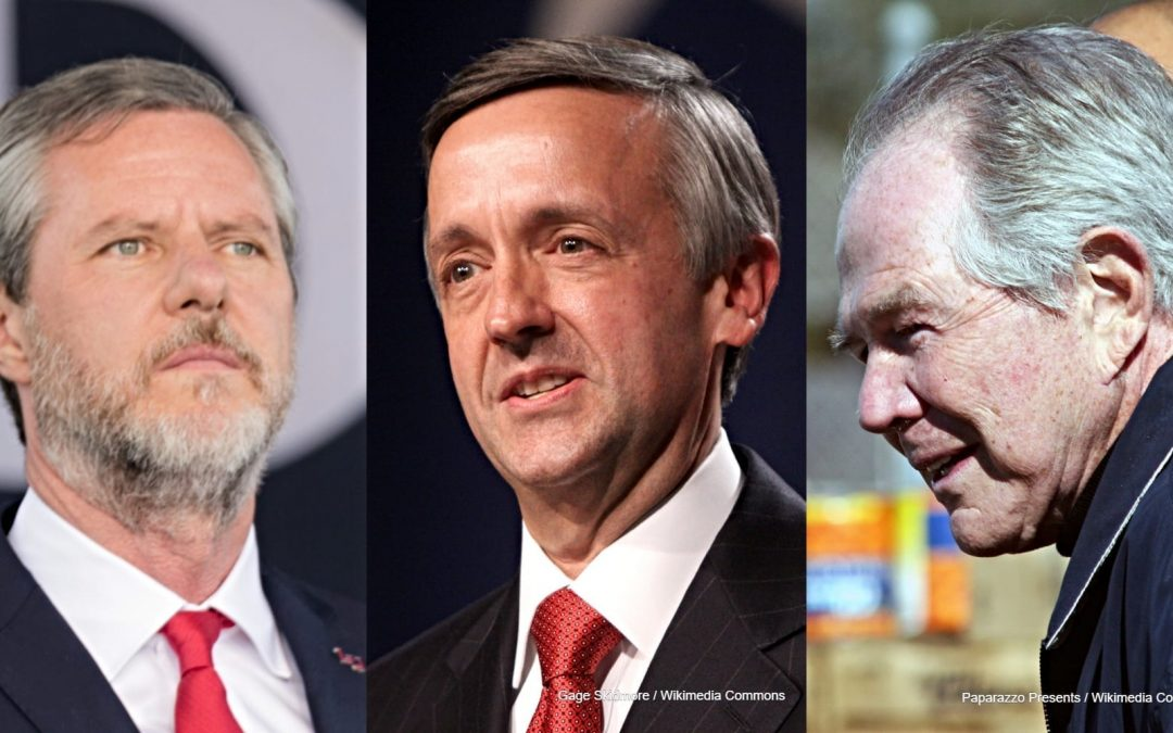 Image of Jerry Falwell Jr Robert Jeffress and Pat Robertson