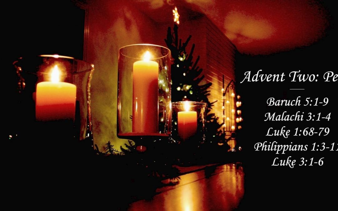 A dark room lit by candles and a Christmas tree