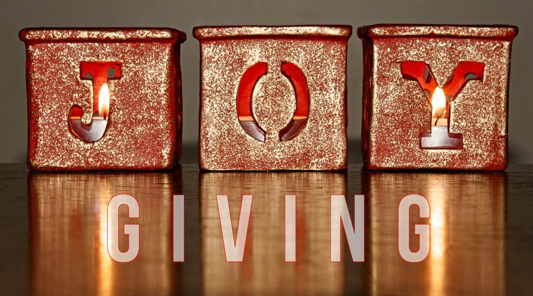 Advent Joy: Giving Joy