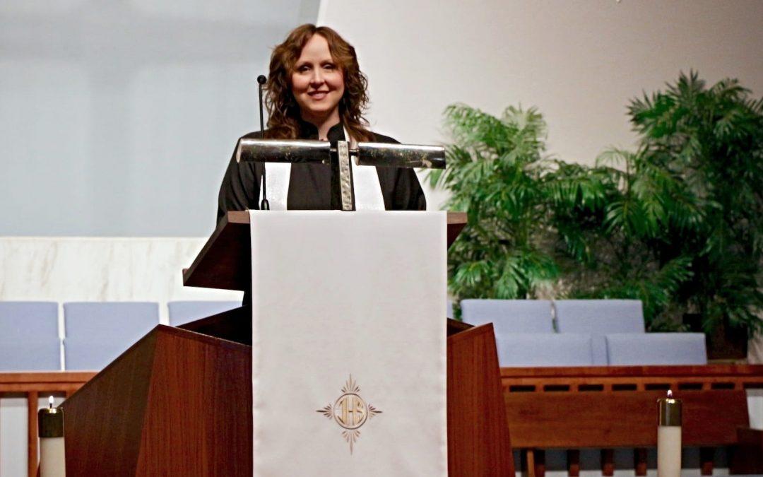 Libby Mae Grammer preaching