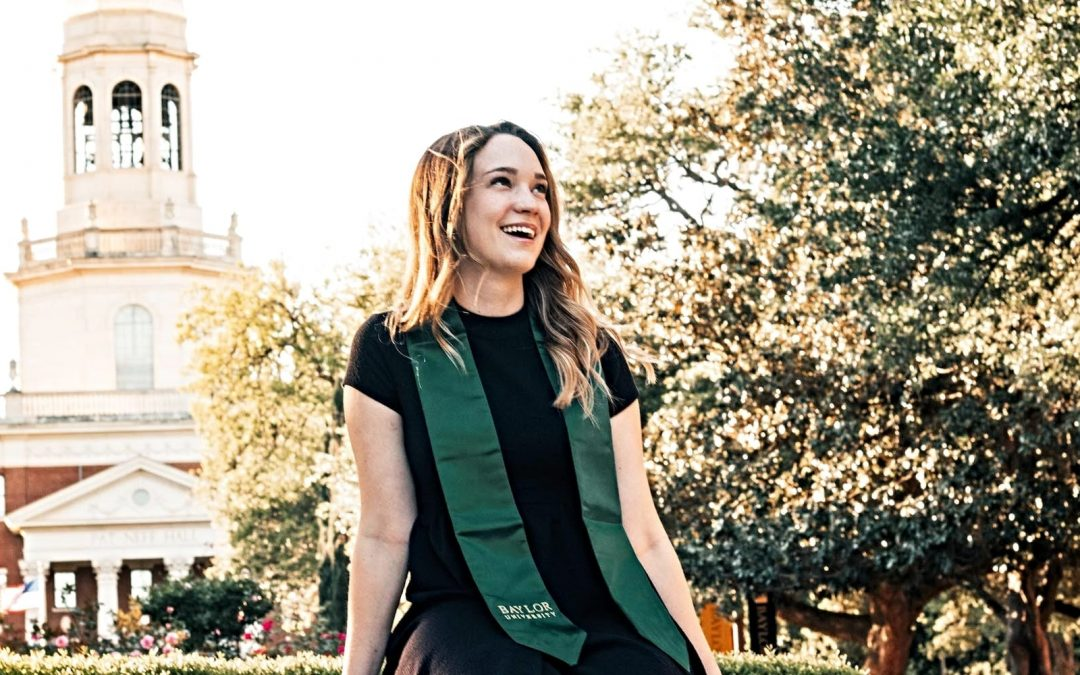 Paige Hardy on Baylor University's campus