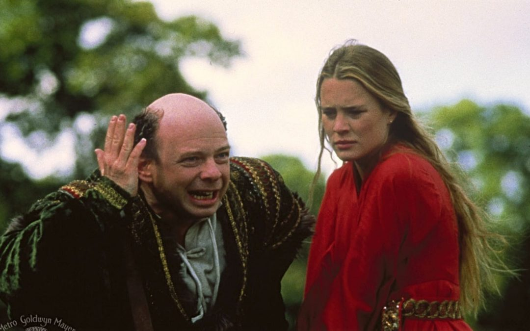 Wallace Shawn and Linda Wright in scene from 'The Princess Bride'