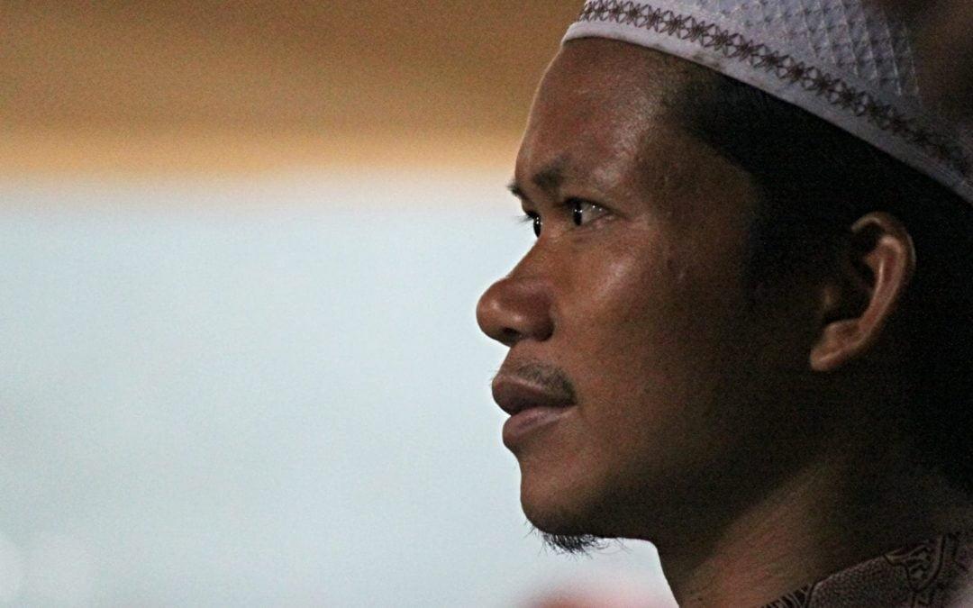 Profile of Muslim man