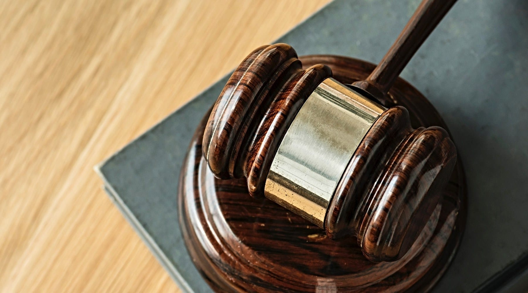 Gavel resting on a stand