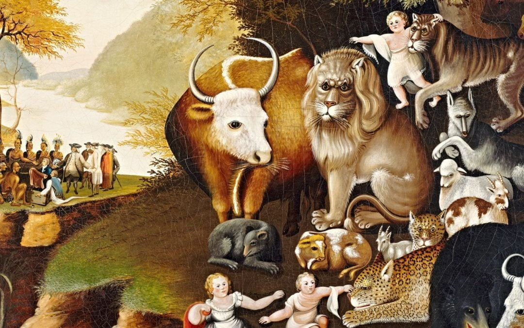 Edward Hicks' painting The Peaceable Kingdom