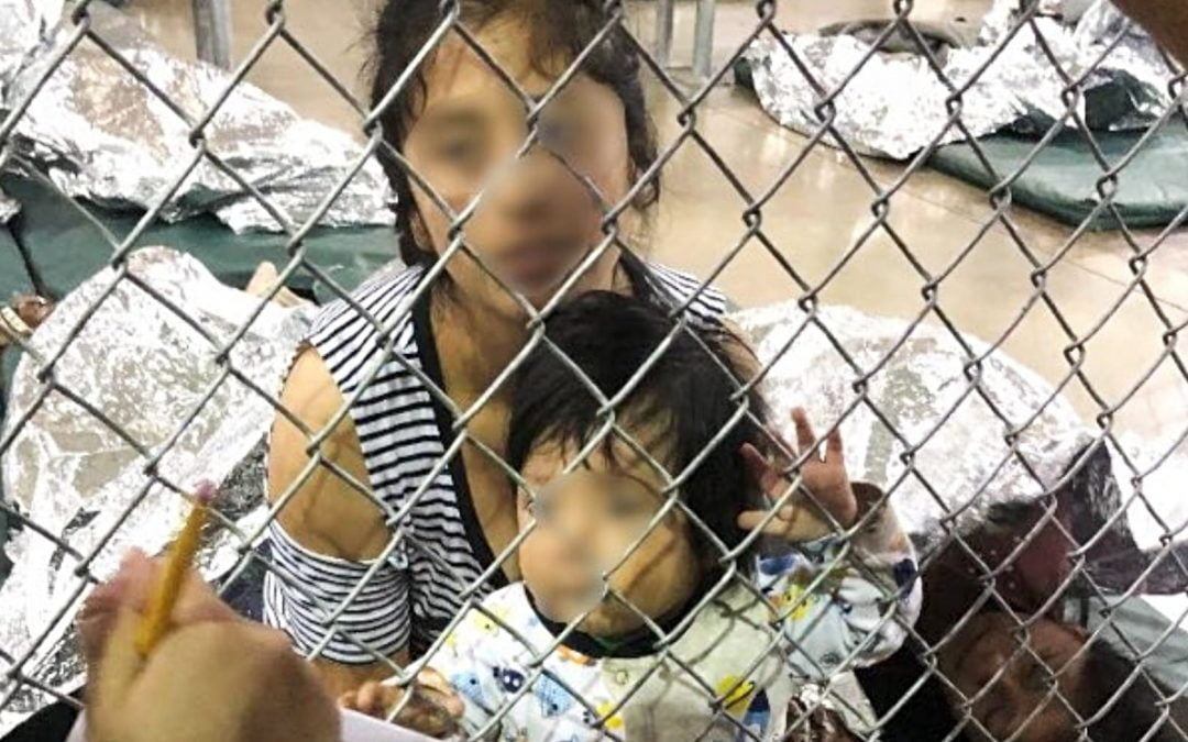 Woman and toddler at detention center in Texas