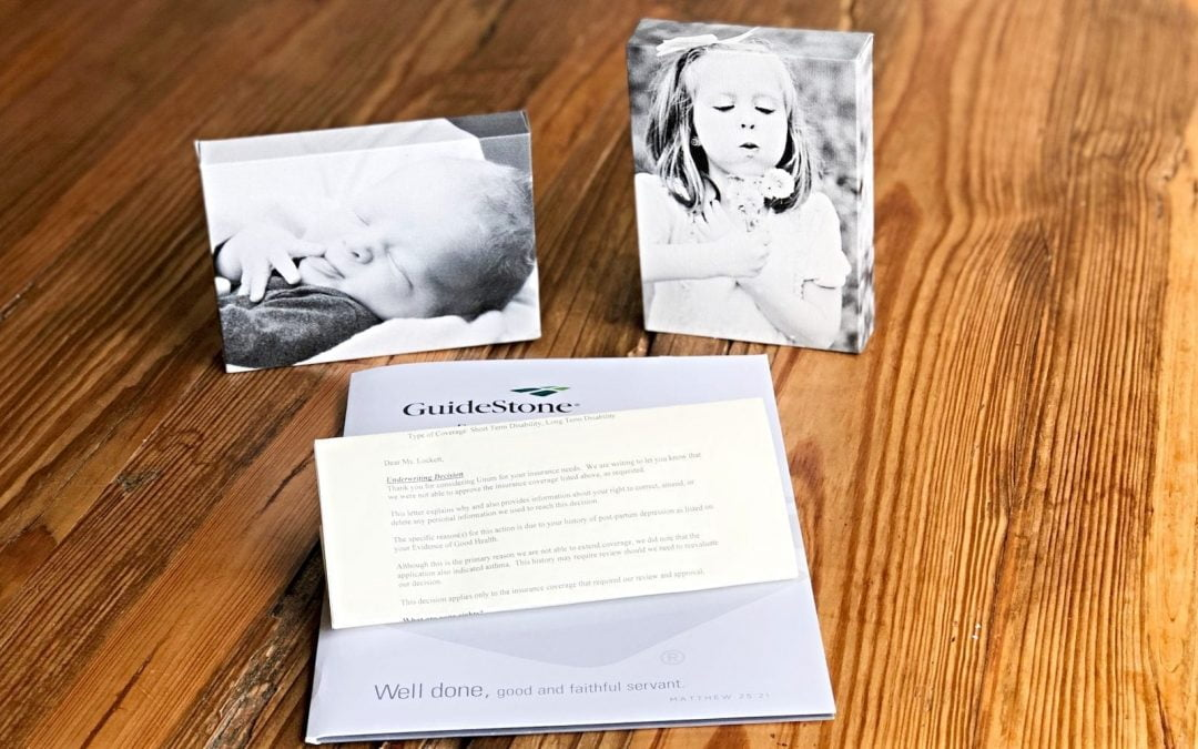 Insurance correspondence and photos of children