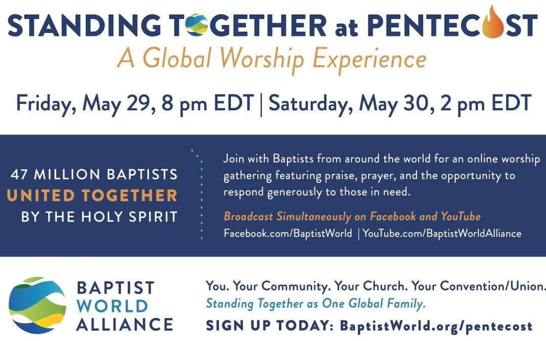 Baptist World Alliance to Host Virtual Global Worship Service