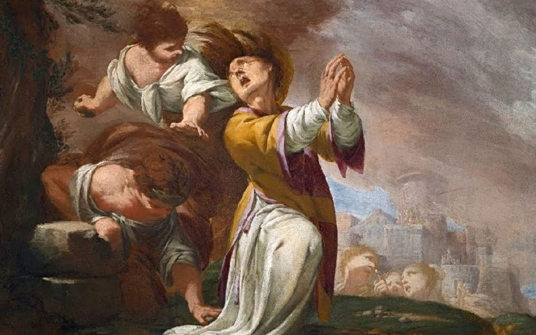 Painting of Stephen being stoned