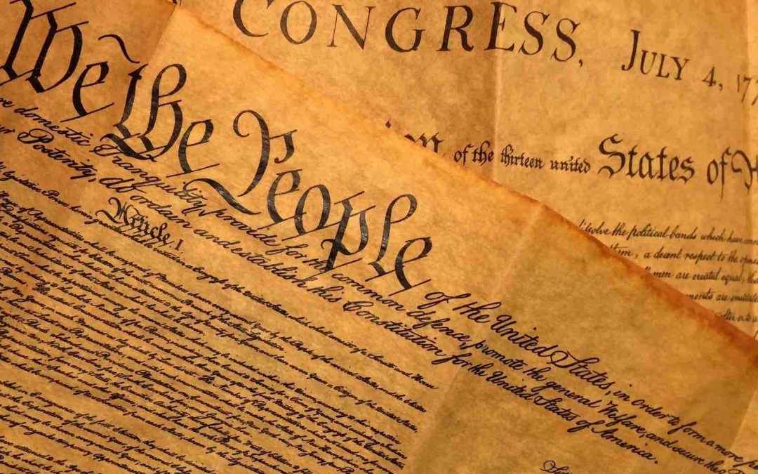 A photo of the U.S. Constitution