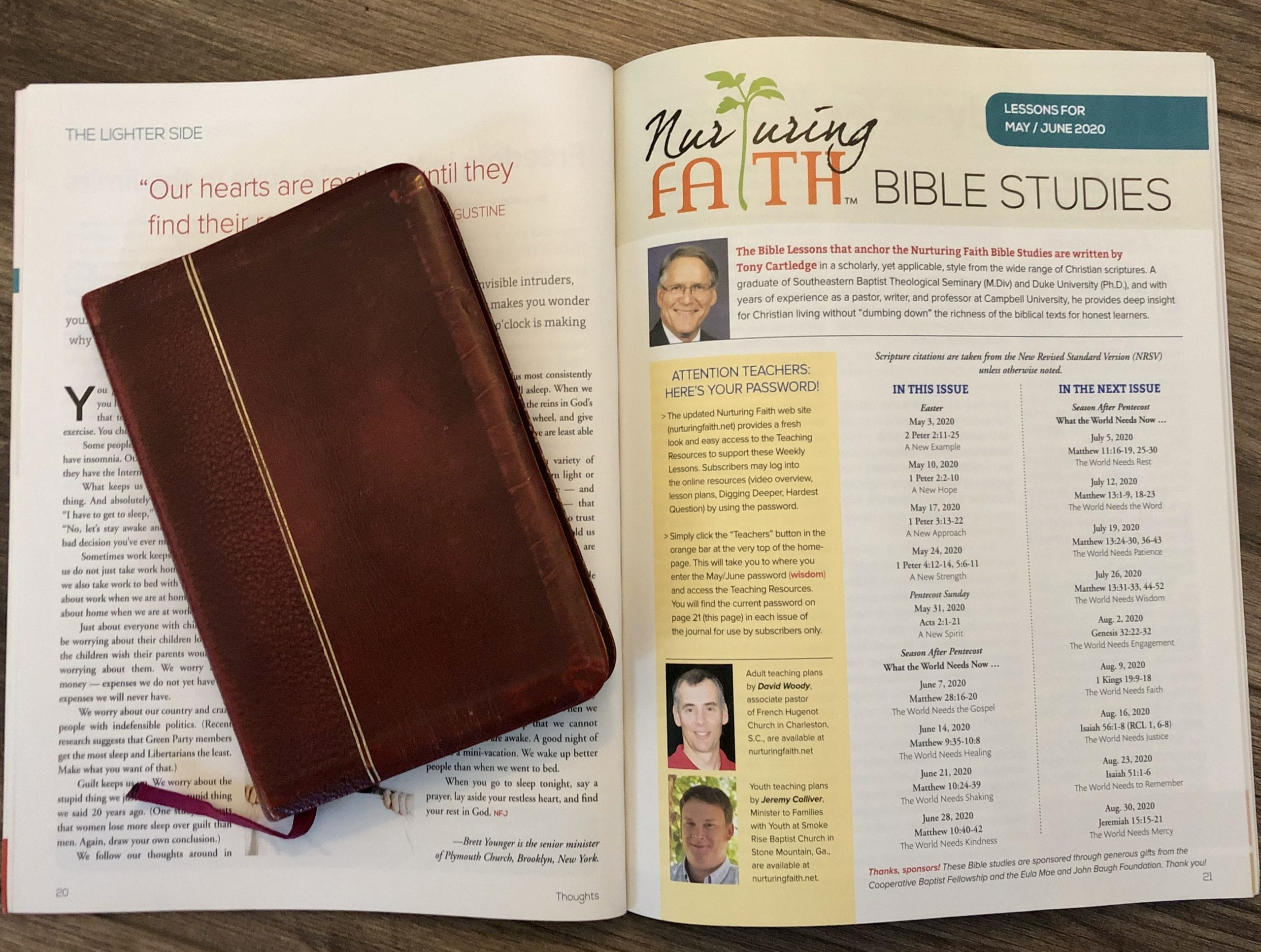 Nurturing Faith extends free Bible study resources through June