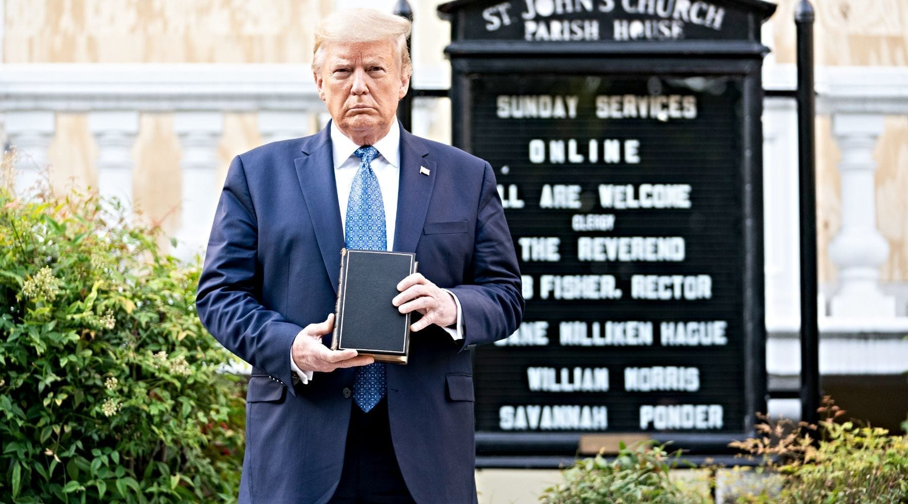 Trump's Staged Photo-op: Coded Message to Christian Nationalists
