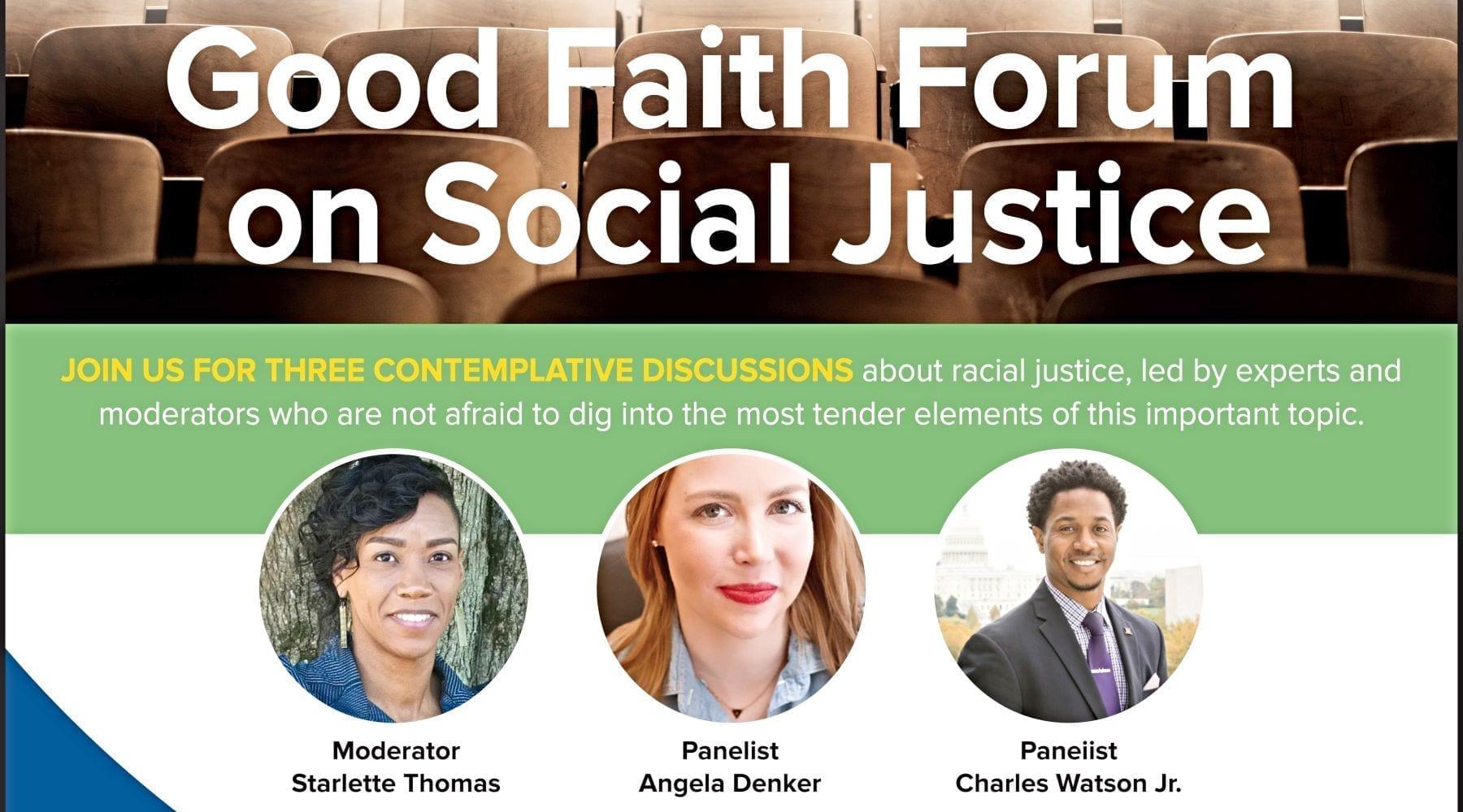 Good Faith Media Forums on Racial Justice Continue July 21