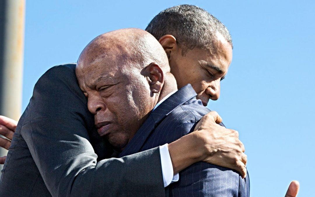 President Barack Obama and U.S. Rep. John Lewis
