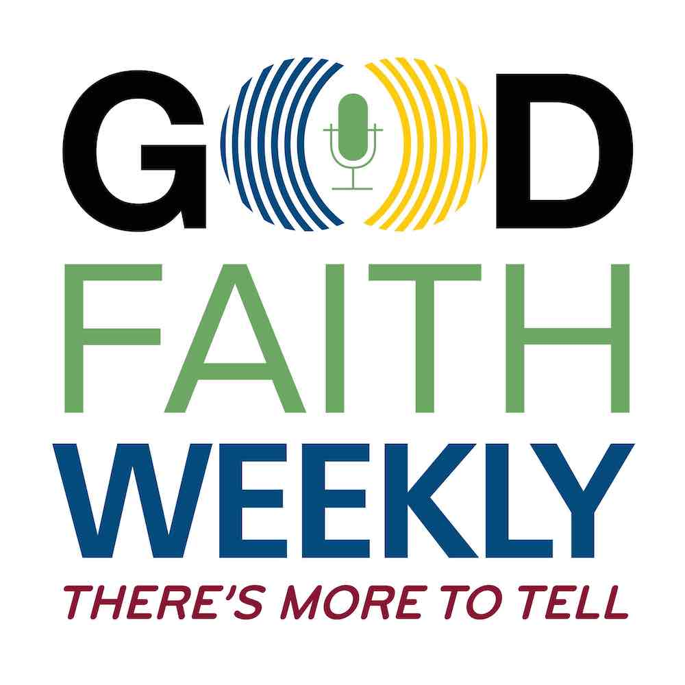 Good Faith Weekly podcast backdrop pattern