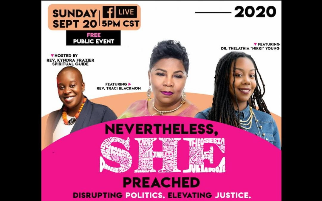 Flier for Nevertheless, She Preached conference
