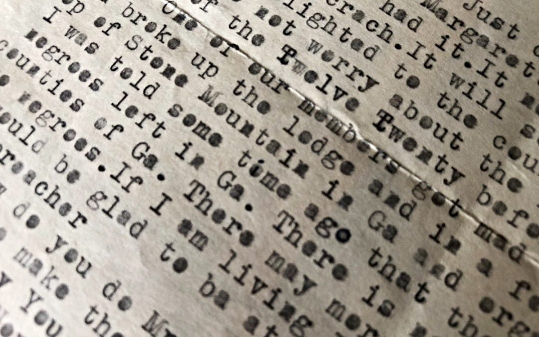 Old typewritten letter