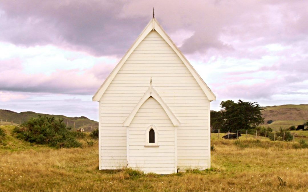 Small church in countryside