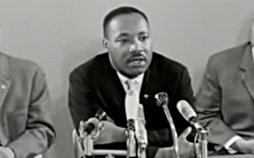 Martin Luther King Jr. at press conference