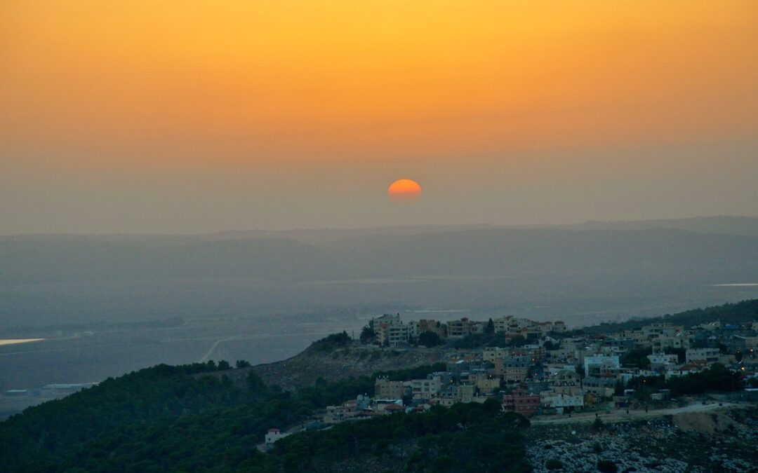 A setting sun in Nazareth.