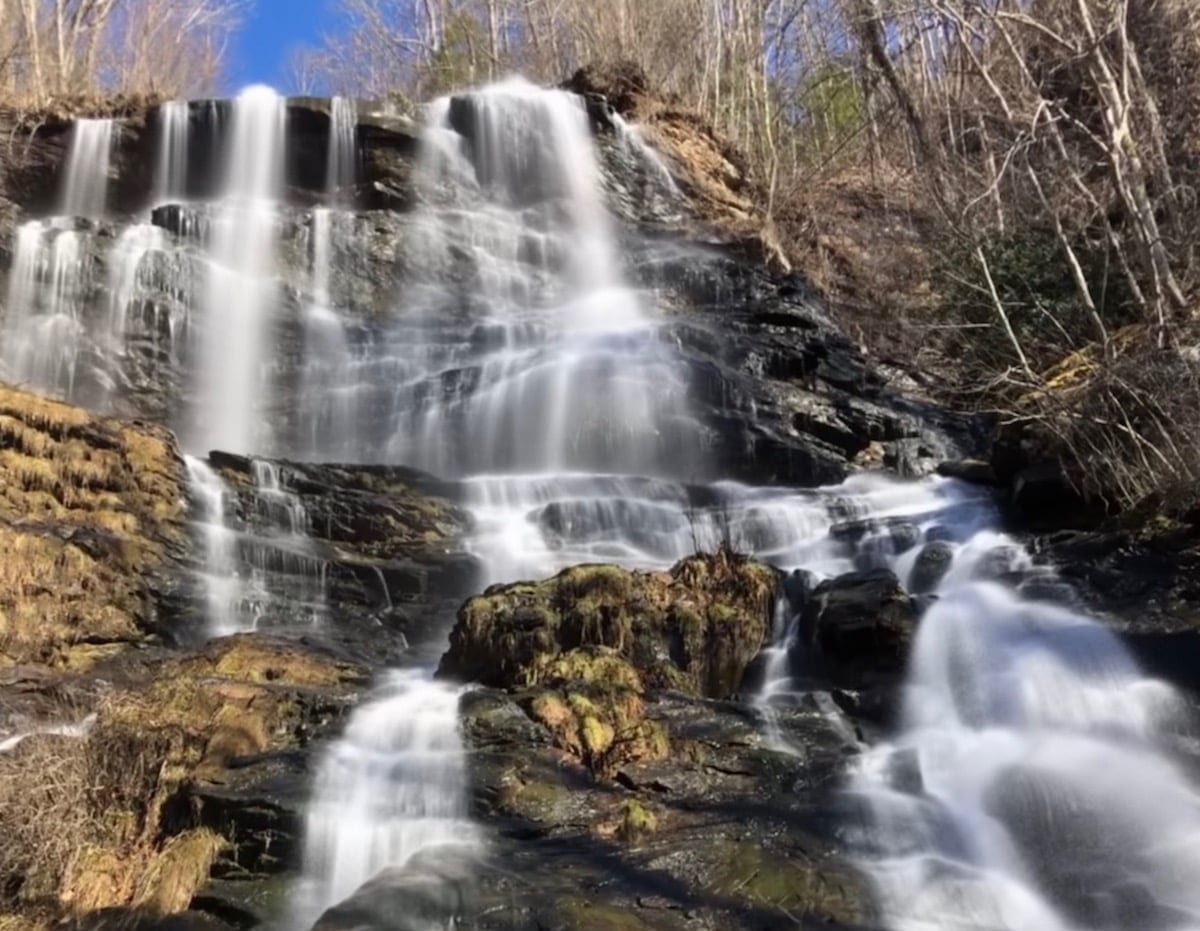 A waterfall in north Georgia