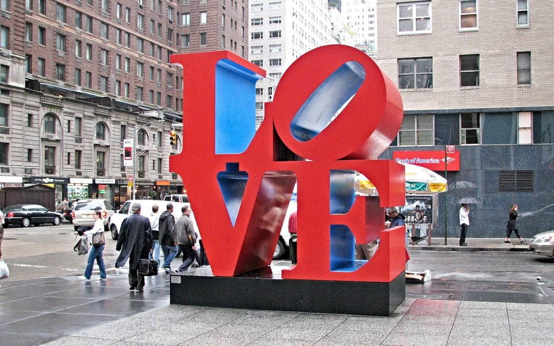 LOVE sculpture in New York City