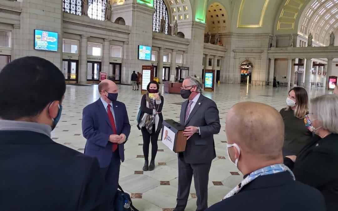 Rabbi Jack Moline with Sen. Chris Coon (D-Delaware)