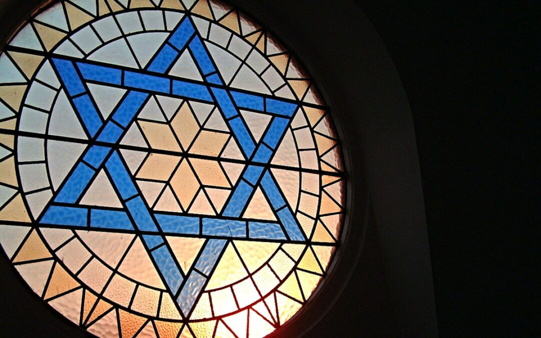 Star of Davis in stained glass