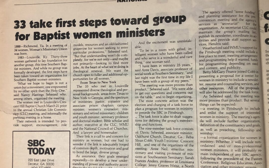 Not Knowing All Baptist Women Pastors Is a Good Thing