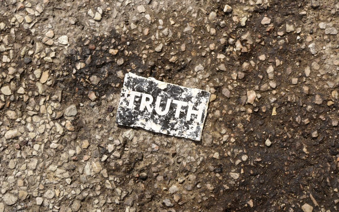 Card with word 'truth' on it