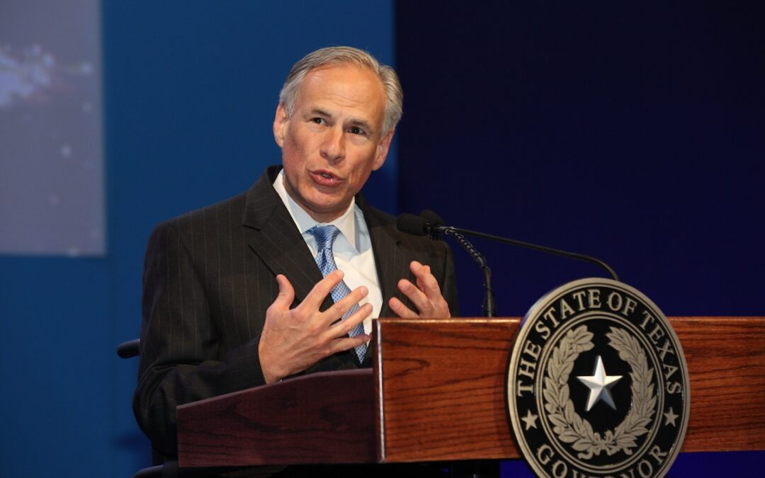 Texas Governor Greg Abbott speaking at an event in 2016.