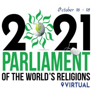 Logo for the Parliament of the Worlds' Religions 2021 virtual gathering.