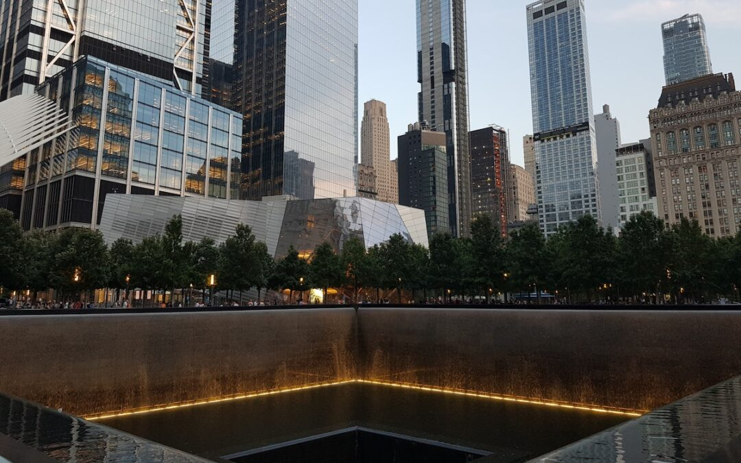 The north pool at the Sept. 11 memorial in New York City.