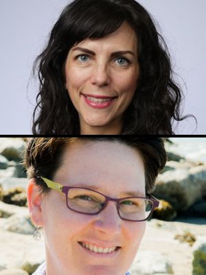 Michelle Casavant and Jodi Spargur headshots